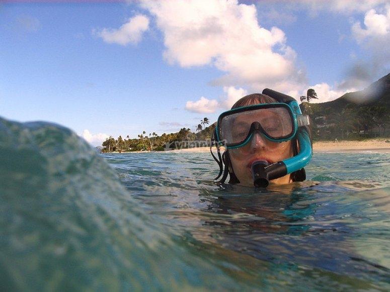 Snorkel en la Playa de Poniente