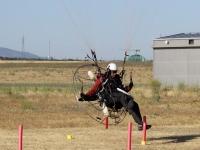 Paramotor landing