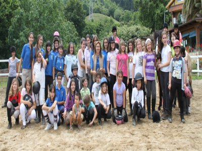 Christmas equestrian camp as a gift