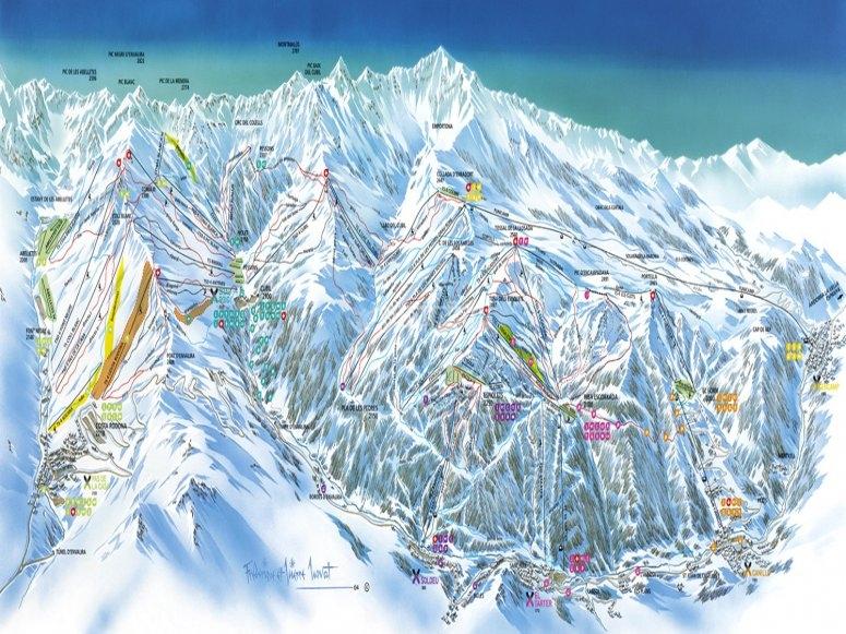 Mapa de pistas Grandvalira el Tarter