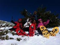 Raquetas de nieve iniciación en Navafría 4 horas