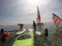 Windsurfing students the class