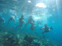 Haciendo snorkel en Roquetas