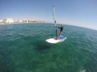 Aprendiendo windsurf en Almeria