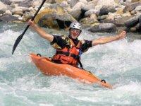 Whitewater kayaking course