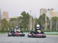 During the kart race