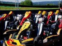 Fleet of karts in Mallorca