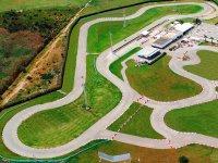 Bird's eye view of the karting circuit