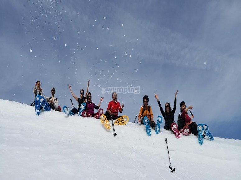 Grupo raquetas de nieve