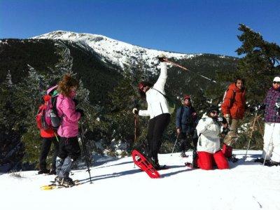 Navafría的高级雪鞋课程