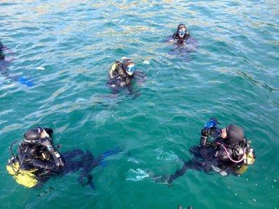 Battesimo di immersioni sull'isola di Mouro