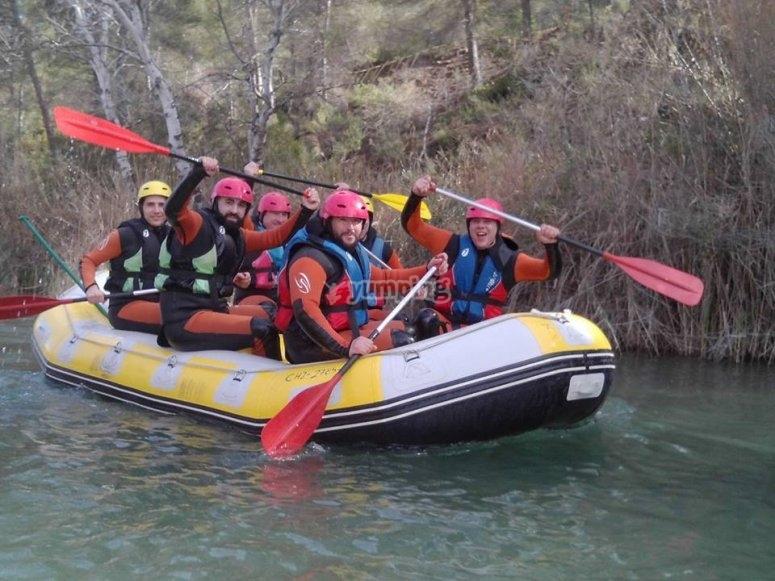 Zattera di rafting in Cabriel
