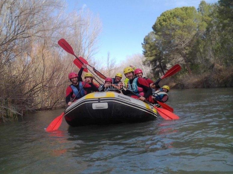 Discesa del rafting di Cabriel