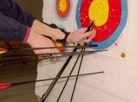 Extrayendo las flechas de la diana