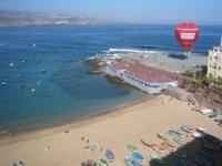 Divisa la playa a vista de pajaro