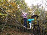 Circuitos de tirolinas y arborismos