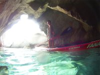 paddle surf in the cave