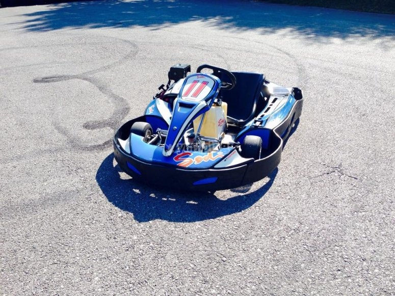 Go kart on the track