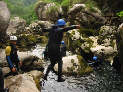 Canyoning nelle Asturie, diversi livelli