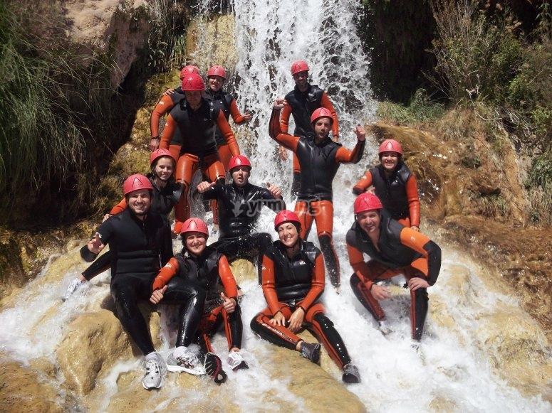 Barranquismo con amigos en Las Chorreras