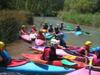 Enjoy descents in canoe