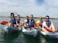 Kayaks agrupados