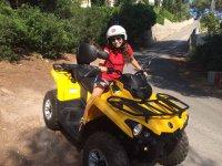 Cavalcando in quad in Javea