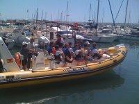 在马贝拉的帆船