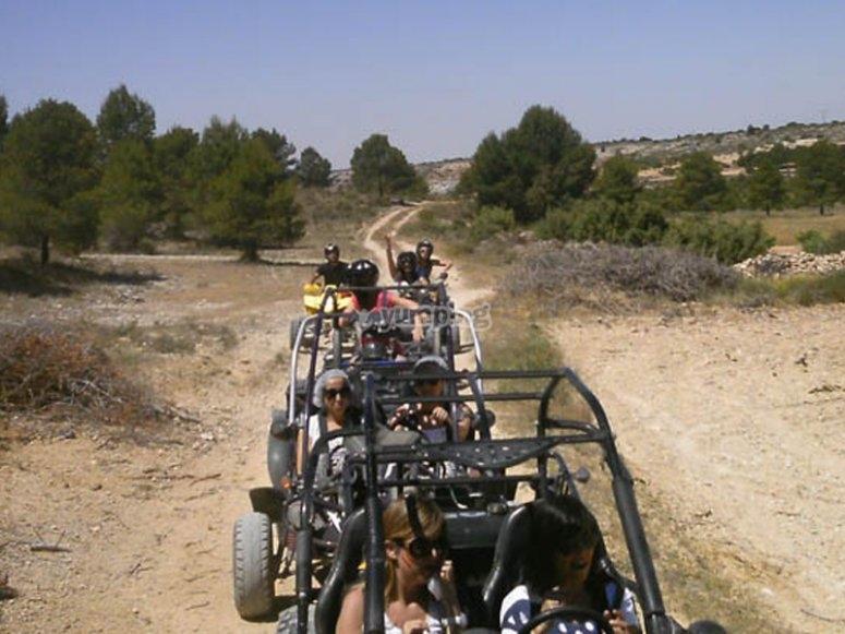 Disfrutando del ruta en buggy