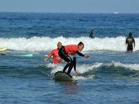 2小时的冲浪课程,特内里费岛的海滩