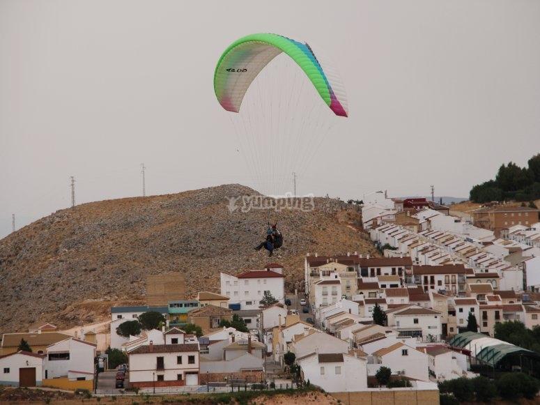 Tándem flight por los cielos de Málaga