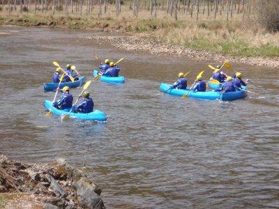 Descenso en kayak por el río Luna 2 horas