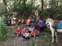 Group on horseback