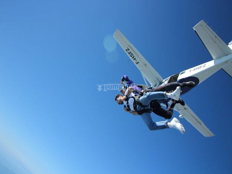 Salto tandem en paracaídas