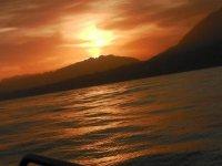 漂移地中海的日落