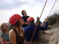 arrampicata e discesa in corda doppia gruppi