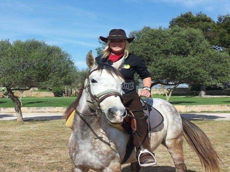 Cowgirl in azione