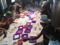 Pintando en el campamento de Negreira