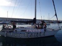 partiendo del puerto de Carboneras
