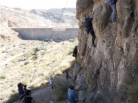 Climbing course with vertical almeria