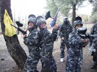 Bachelorette party in the paintball