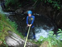 Rappelling the wall of water