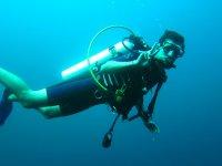 Immersione subacquea con bottiglia
