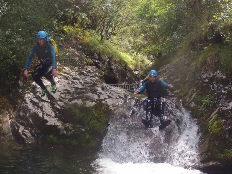 Canyoning in Cantabria Rubo
