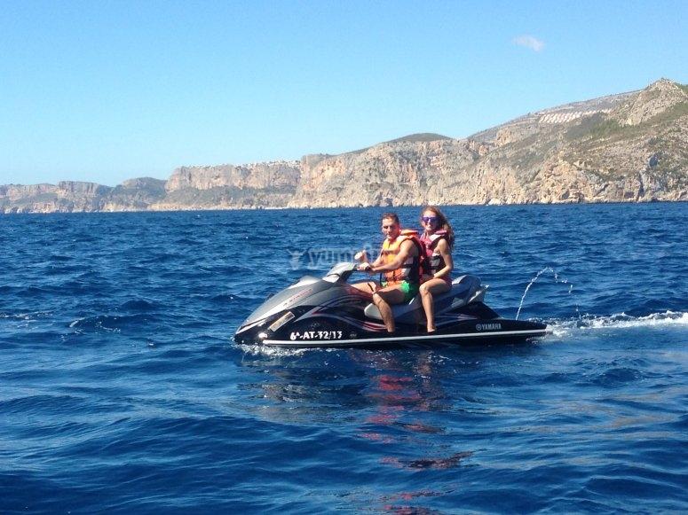 Ruta en moto de agua por Denia