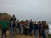 todos en la playa