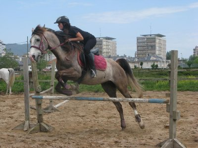 One-hour horse riding class, Laredo