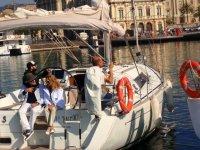 在港口帆船帆船