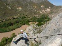 Durante la vía ferrata en Teruel