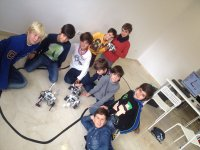 One of our robotics workshops